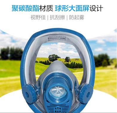 HG-800D防毒面具(硅胶)