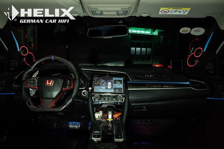 开最猛的车,听最美的歌!本田思域升级德国HELIX音响