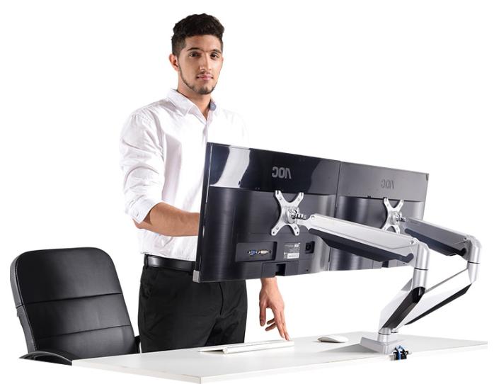 乐歌(Loctek) D7D 全铝双屏显示器支