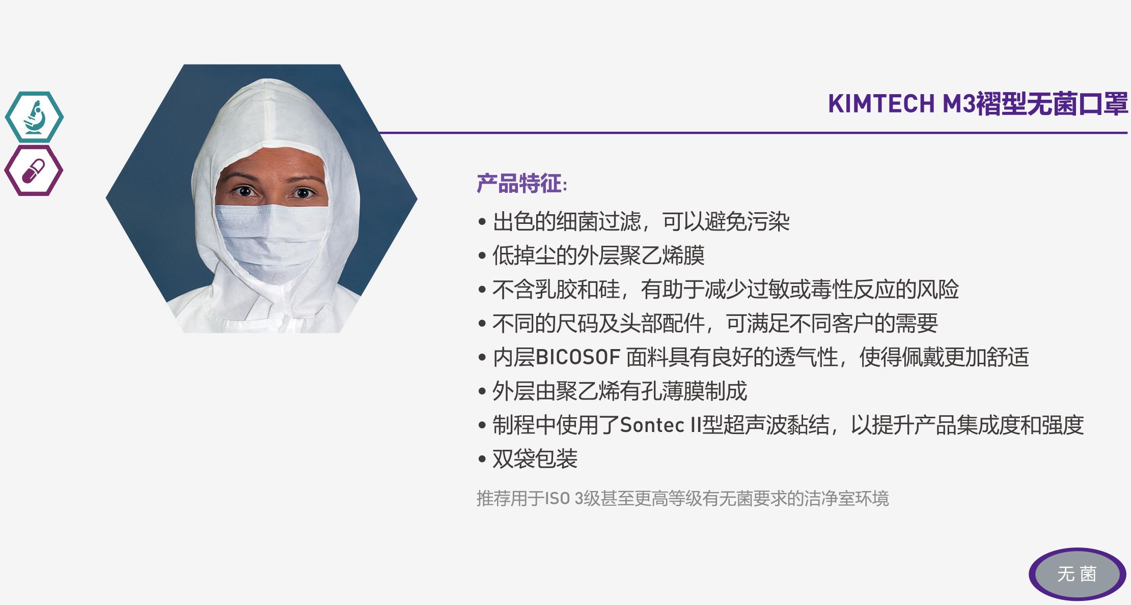 KIMTECH M3褶型无菌口罩