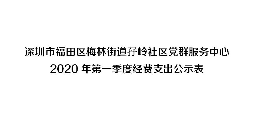 深圳市福田区梅林街道孖岭社区党群服务中心 2020年第一季度经费支出公示表