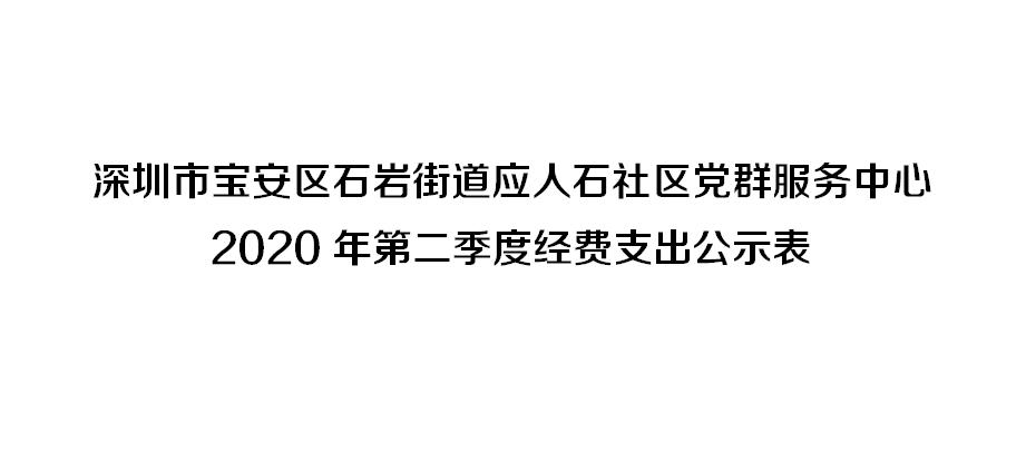 深圳市宝安区石岩街道应人石社区党群服务中心 第二季度经费支出公示表