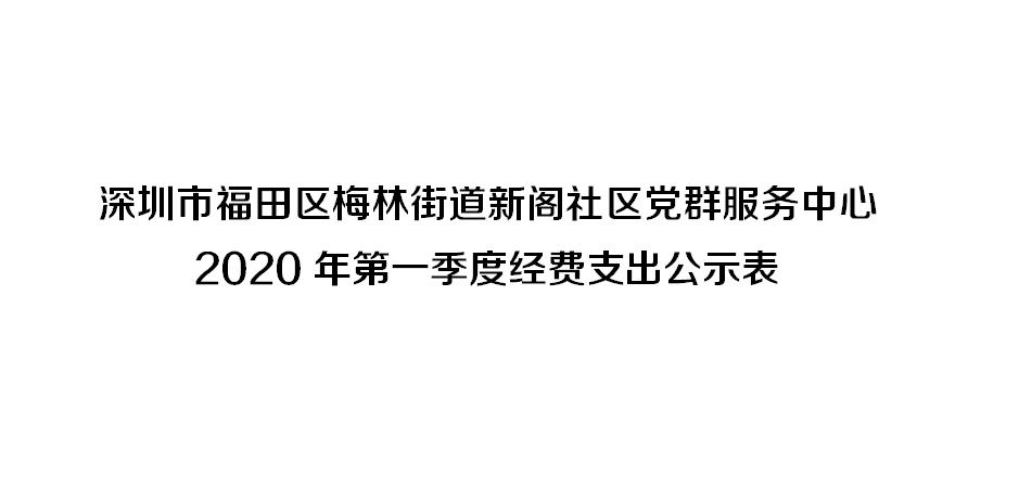 深圳市福田区梅林街道新阁社区党群服务中心 2020年第一季度经费支出公示表