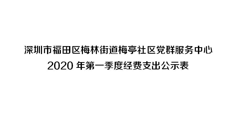 深圳市福田区梅林街道梅亭社区党群服务中心 2020年第一季度经费支出公示表