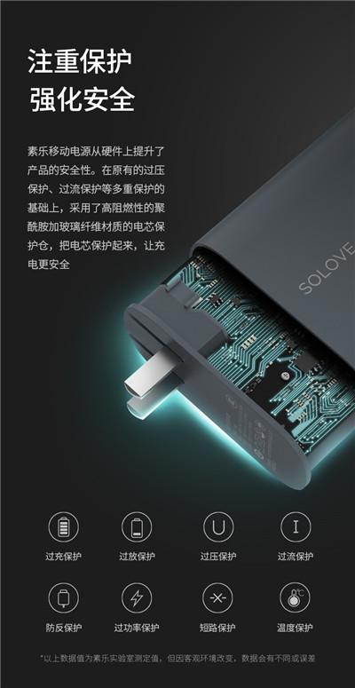 solove素乐充电宝+充电器二合一旅行
