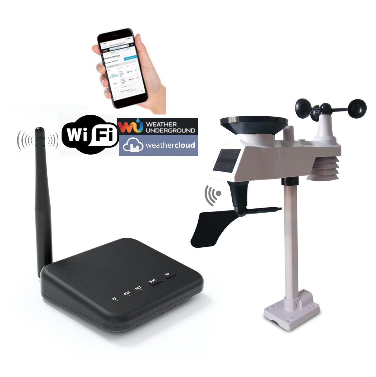 WS-0101-WIFI Professional Wifi Weather Station