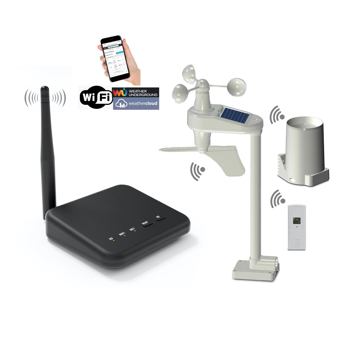 WS-0100-WIFI Professional Wifi Weather Station
