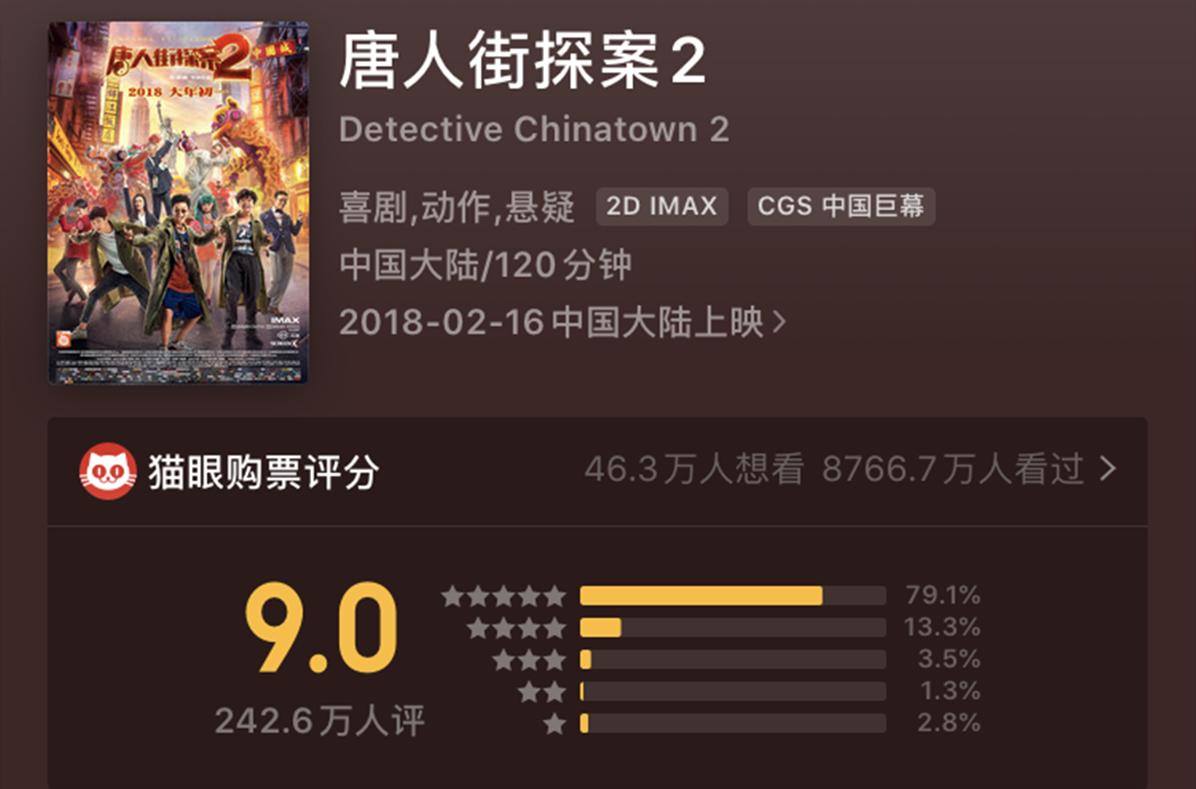 《唐人街探案2》