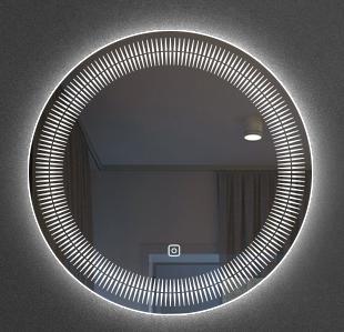 单键无极调光镜子LED灯案例