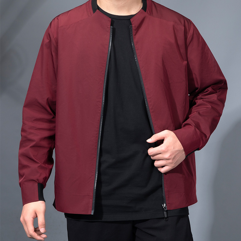 Autumn and  Winter Men's Jacket Stand Neck Sports Jackets Thin Section Men Jackets 100% Polyester