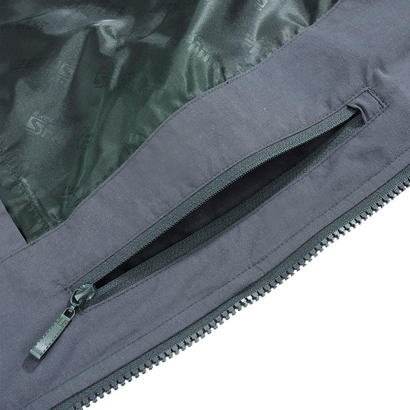 Men's Cotton-Padded Jacket Winter Warm Thicken Coat Hooded Male Detachable-Hat Outerwear
