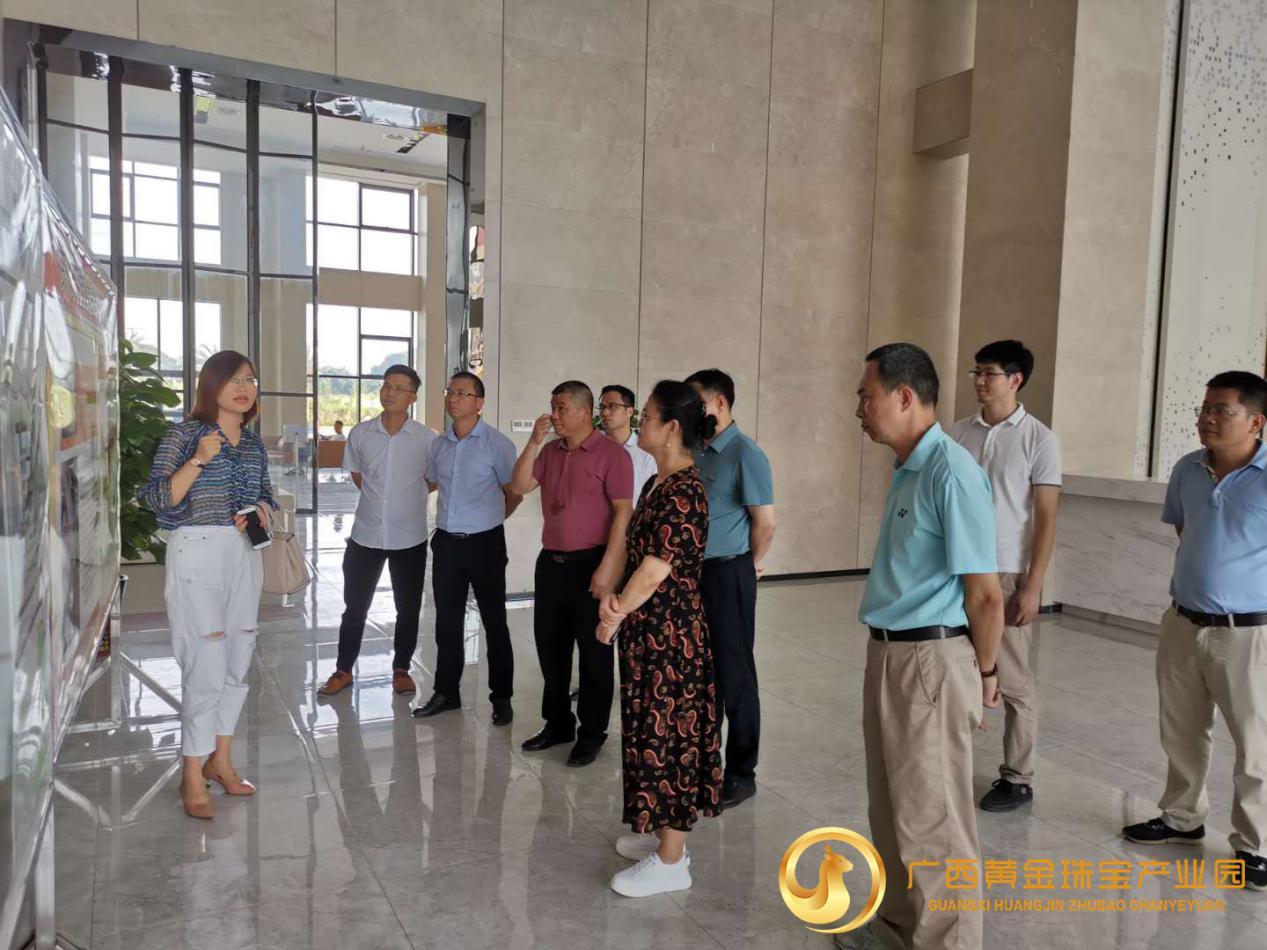 广西自治区人社厅处长黄少坚一行走访广西黄金珠宝产业园