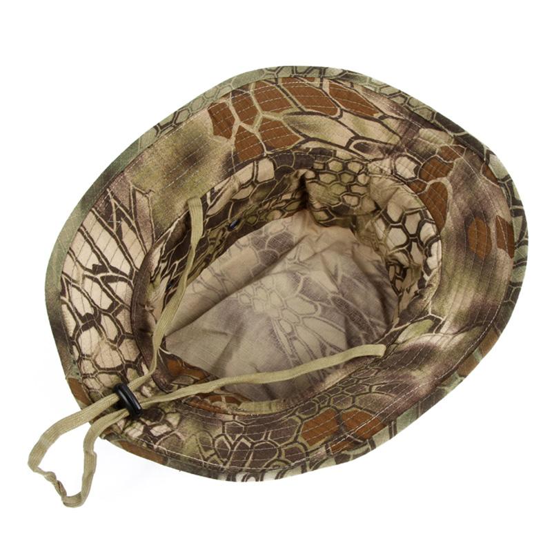 Tactical Camo Men Boonie Cap Army Military Waterproof Bucket Hats Outdoor Hunting Fisherman Hats