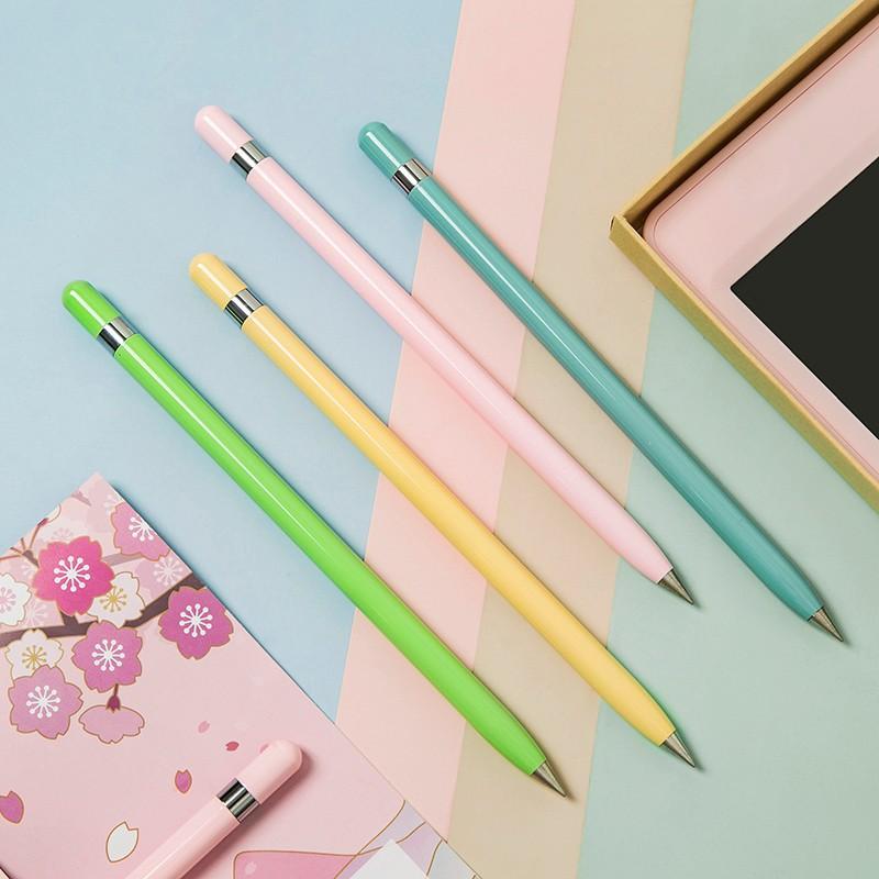 永恒笔学生用写不完简约金属中性笔