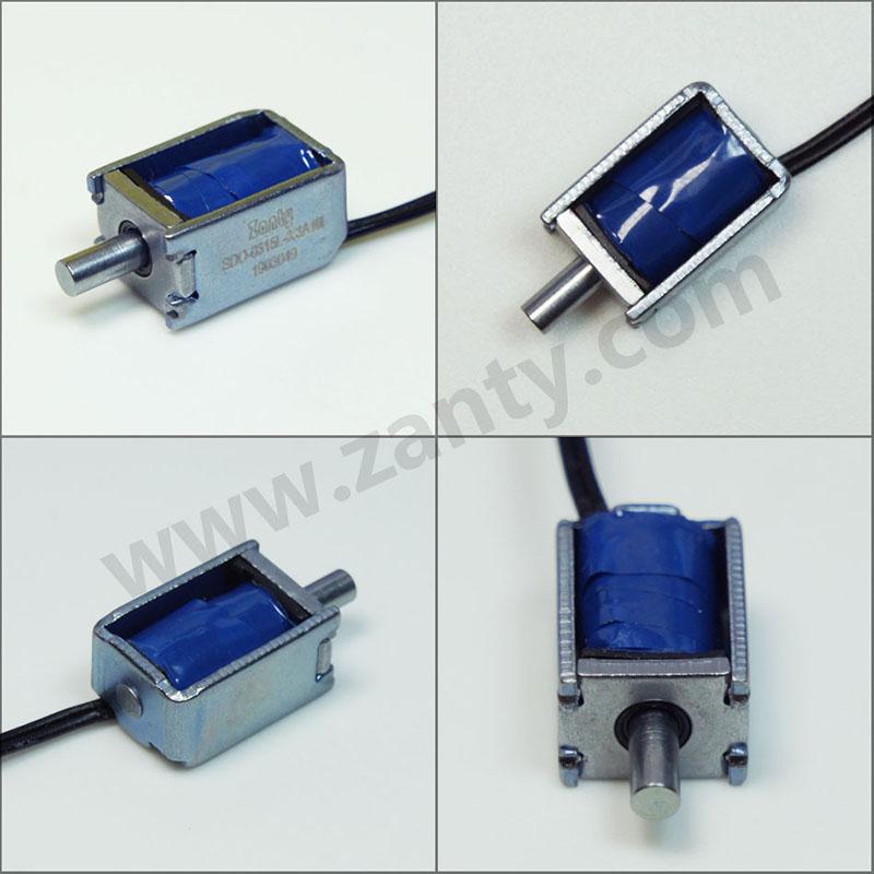 SDO-0315L系列微型指纹锁密码锁推拉电磁铁