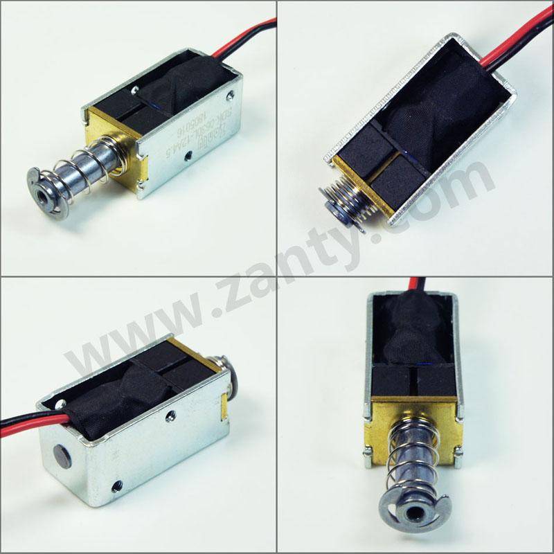 SDK-0630L系列电磁铁 充电设备用单向自保持式推拉电磁铁