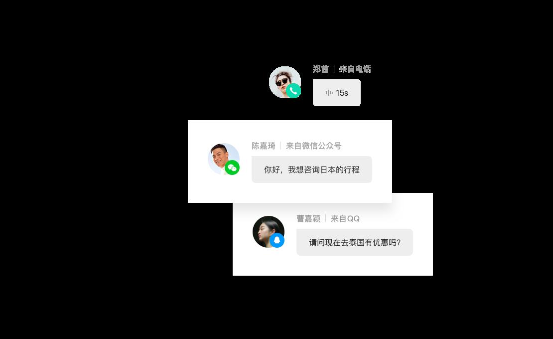 涵盖QQ微信等多通路沟通方式服务客户,企点客服(营销QQ在线客服系统)