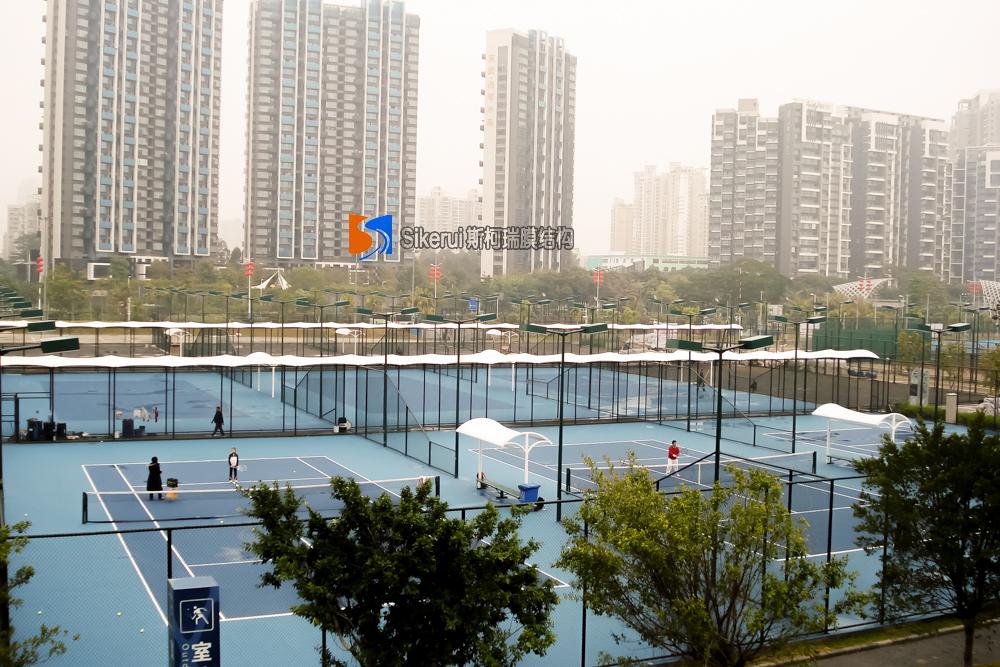 莆田湾网球中心长廊膜结构