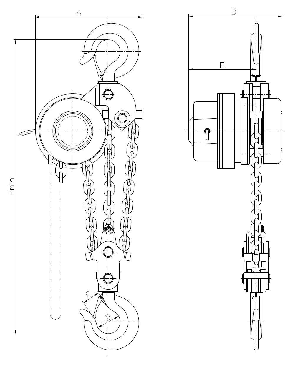 环链电动提升机DHT型7.5吨