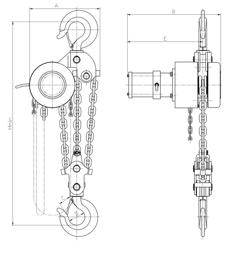 环链电动提升机DHT型5吨