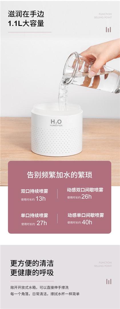 充电加湿器_家用静音卧室双喷雾补水