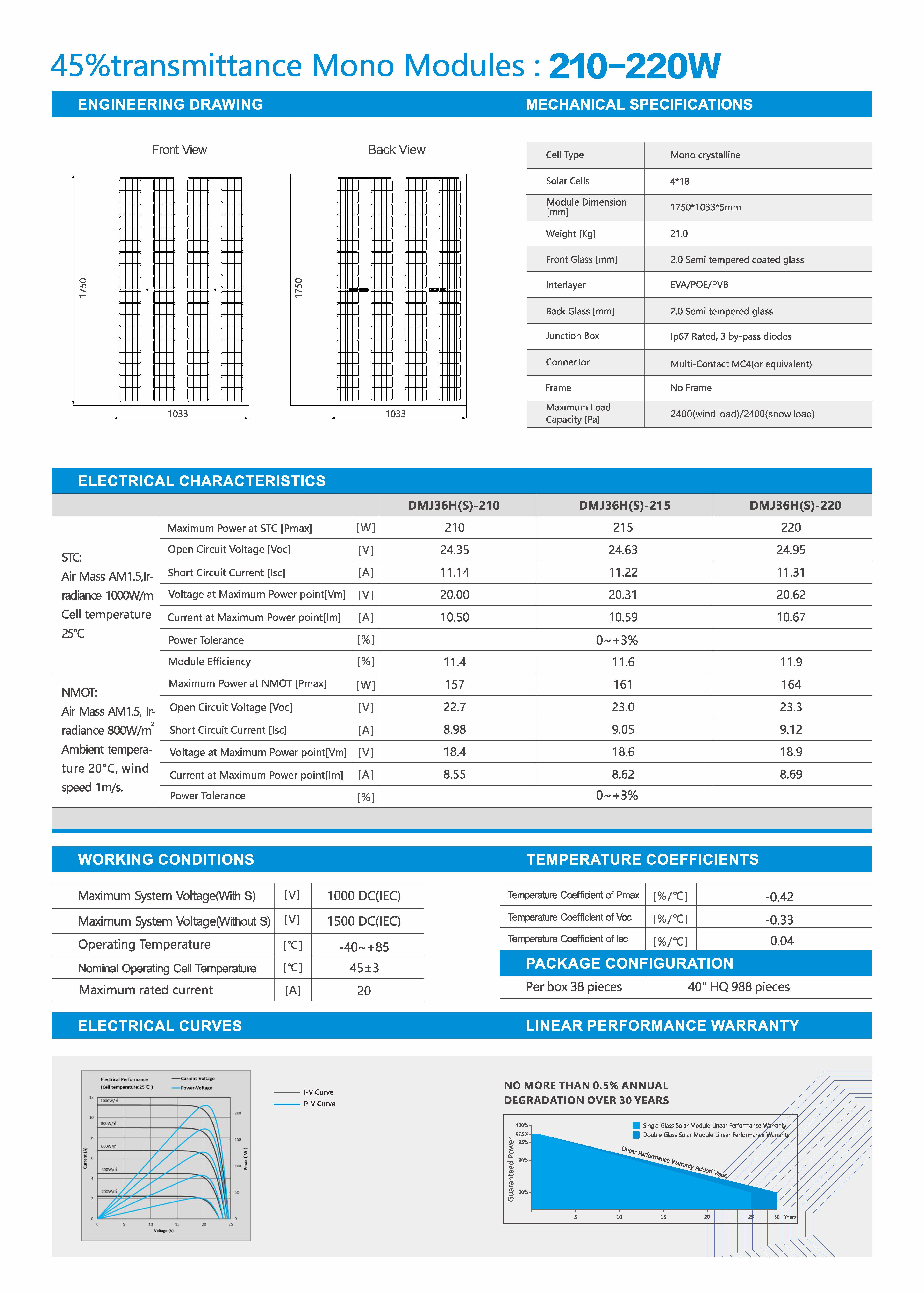 DMJ36H(S)210-220-45透光-5mm厚