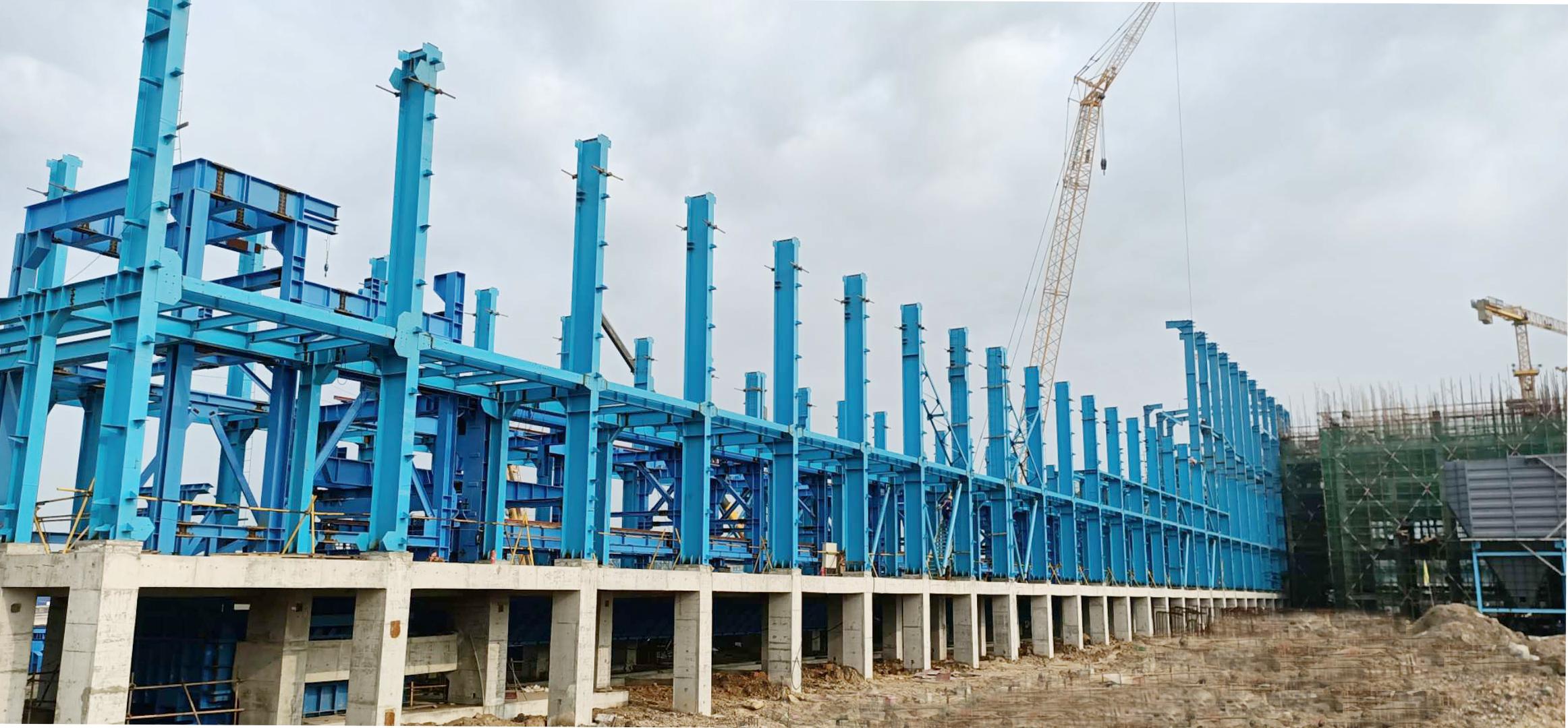 大件吊装公司 | 防城港球团项目——焙烧室大烟道全部吊装完成