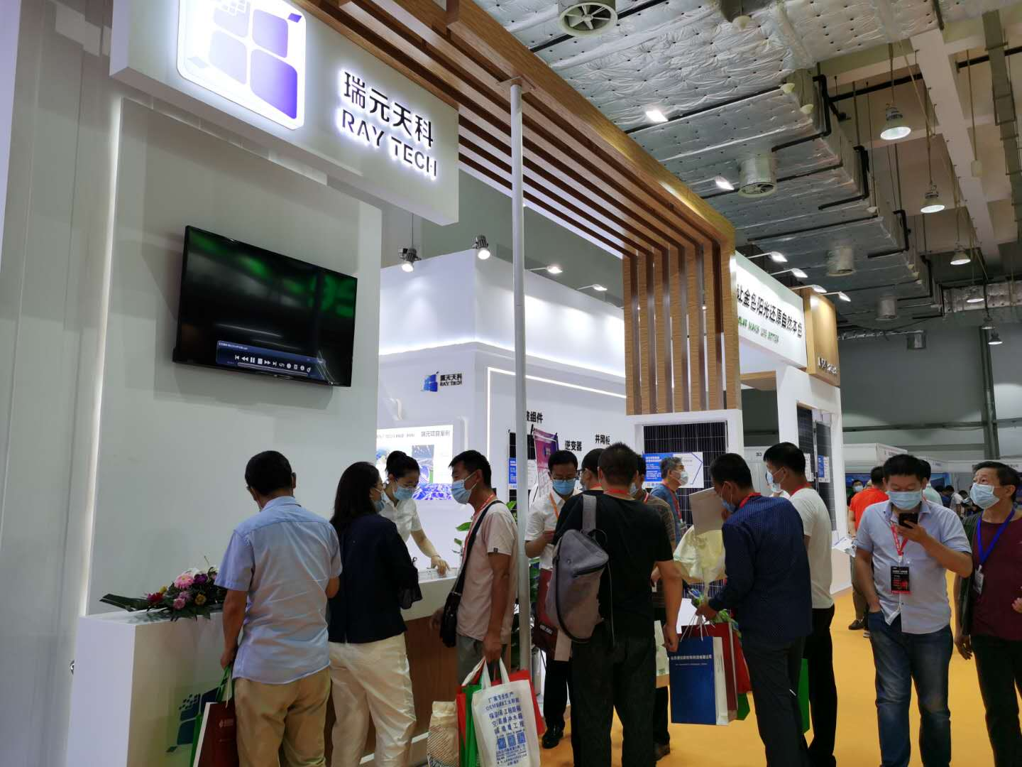 Raytech Takes Part in the Solar Energy Exhibition in Jinan and Enjoys Wide Popularity at Its TikTok