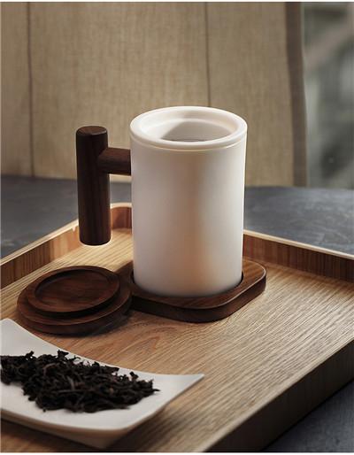 木笙羊脂玉瓷茶杯_白瓷杯办公室
