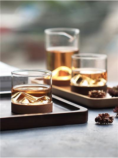 木笙洋酒杯_玻璃创意家用威士忌酒杯