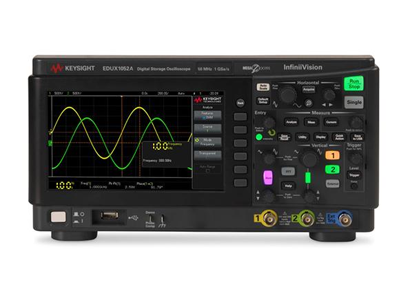 是德科技EDUX1052A 示波器:50 MHz,2 个模拟通道