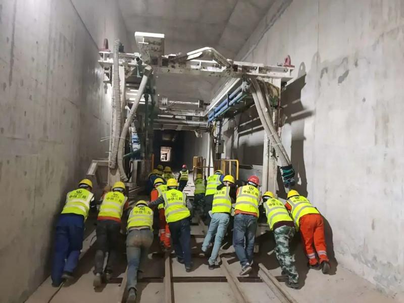 中铁工服复工复产首个项目实现双线贯通