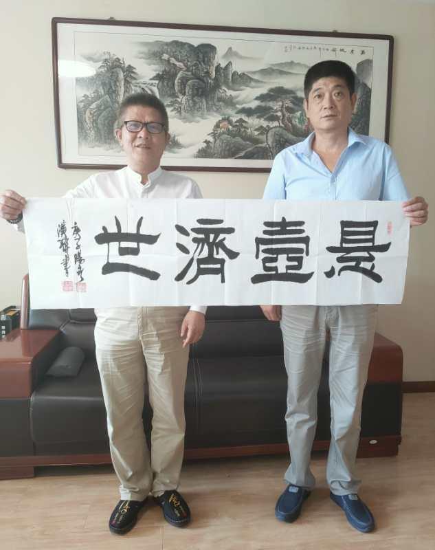 湖北文化产业商会副会长叶汉联莅临我司参观考察