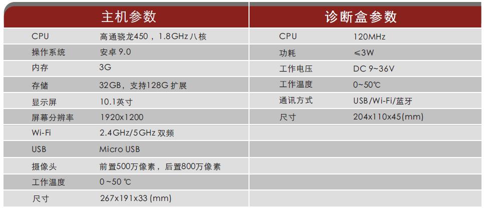 X-431 PRO 3S+V2.0商用车/乘商一体车辆诊断设备