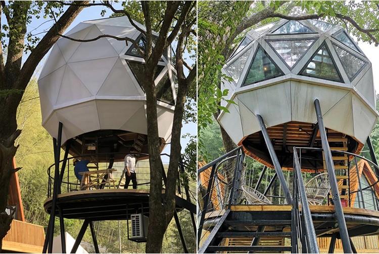 特色民宿穹顶树屋