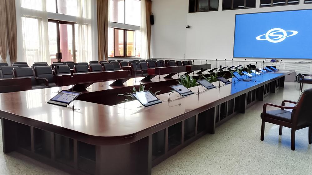 热烈祝贺北京首钢集团使用乐访无纸化会议系统升降一体终端