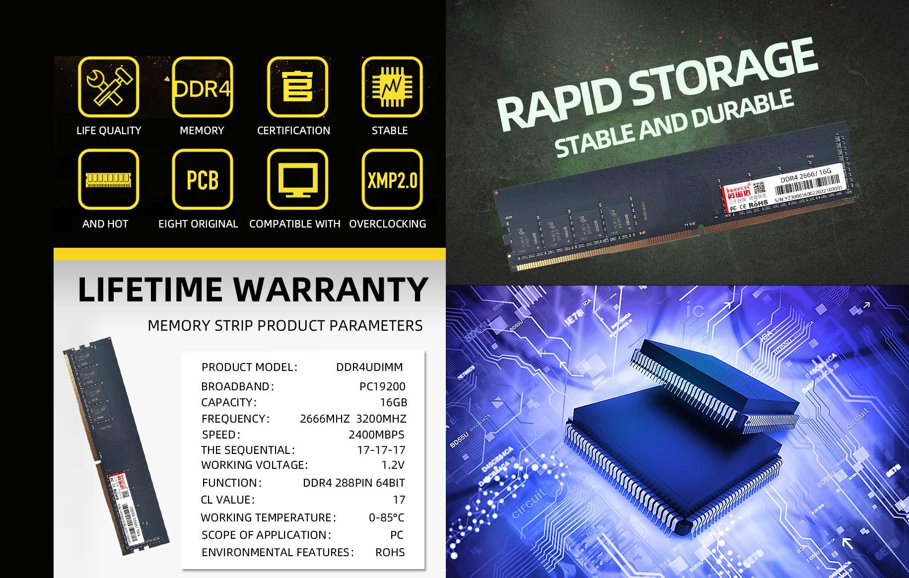 DDR4 2666/3200 16GB desktop MEMORY strip