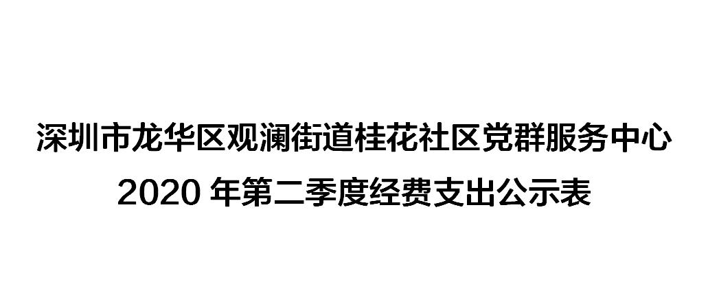 深圳市龙华区观澜街道桂花社区党群服务中心2020年第二季度经费支出公示表