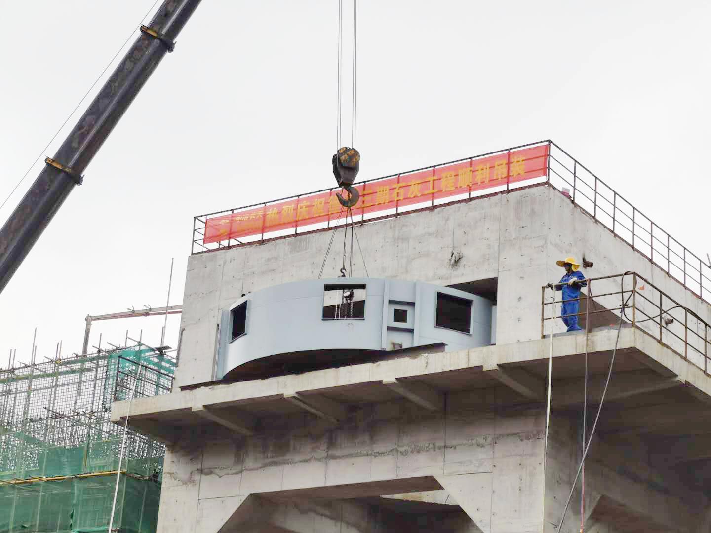 徐钢石灰窑项目窑下出灰设备吊装