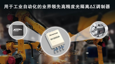 瑞萨电子推出高精度光隔离ΔΣ调制器,用于工业自动化应用