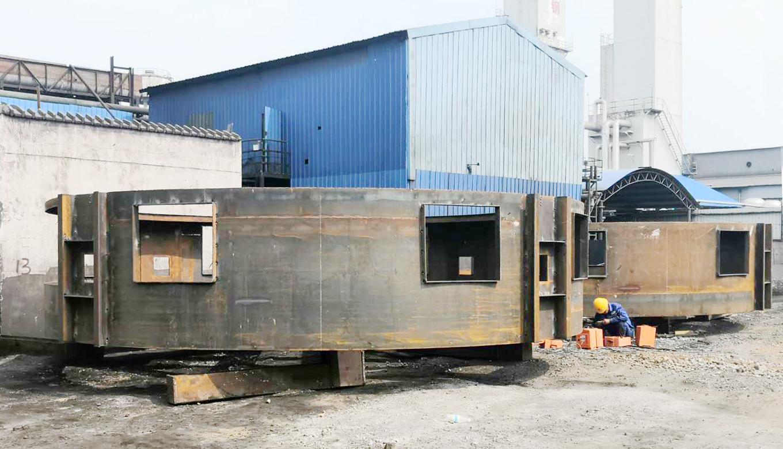 徐钢石灰窑设备安装项目 | 窑壳第一阶段顺利吊装