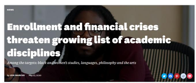 入学率下降,多校面临财政危机!到底是新冠疫情的错,还是美国高等教育的内部问题?
