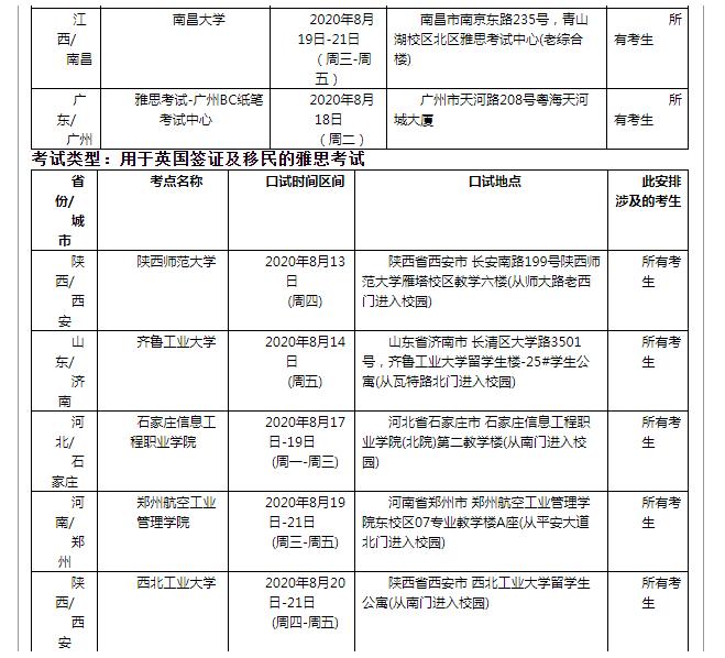 官宣!雅思公布9月中国大陆地区雅思考试安排