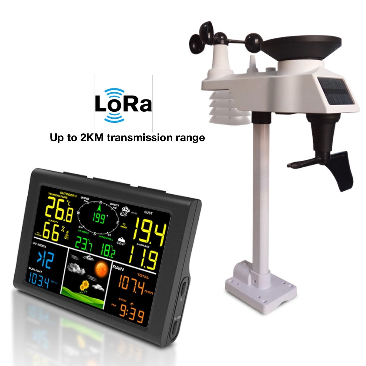 FT-0832L Professional Lora Wireless Weather Station