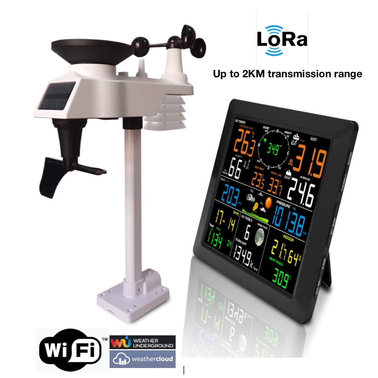 FT-0310L-wifi Lora and Wifi Professional Weather Station