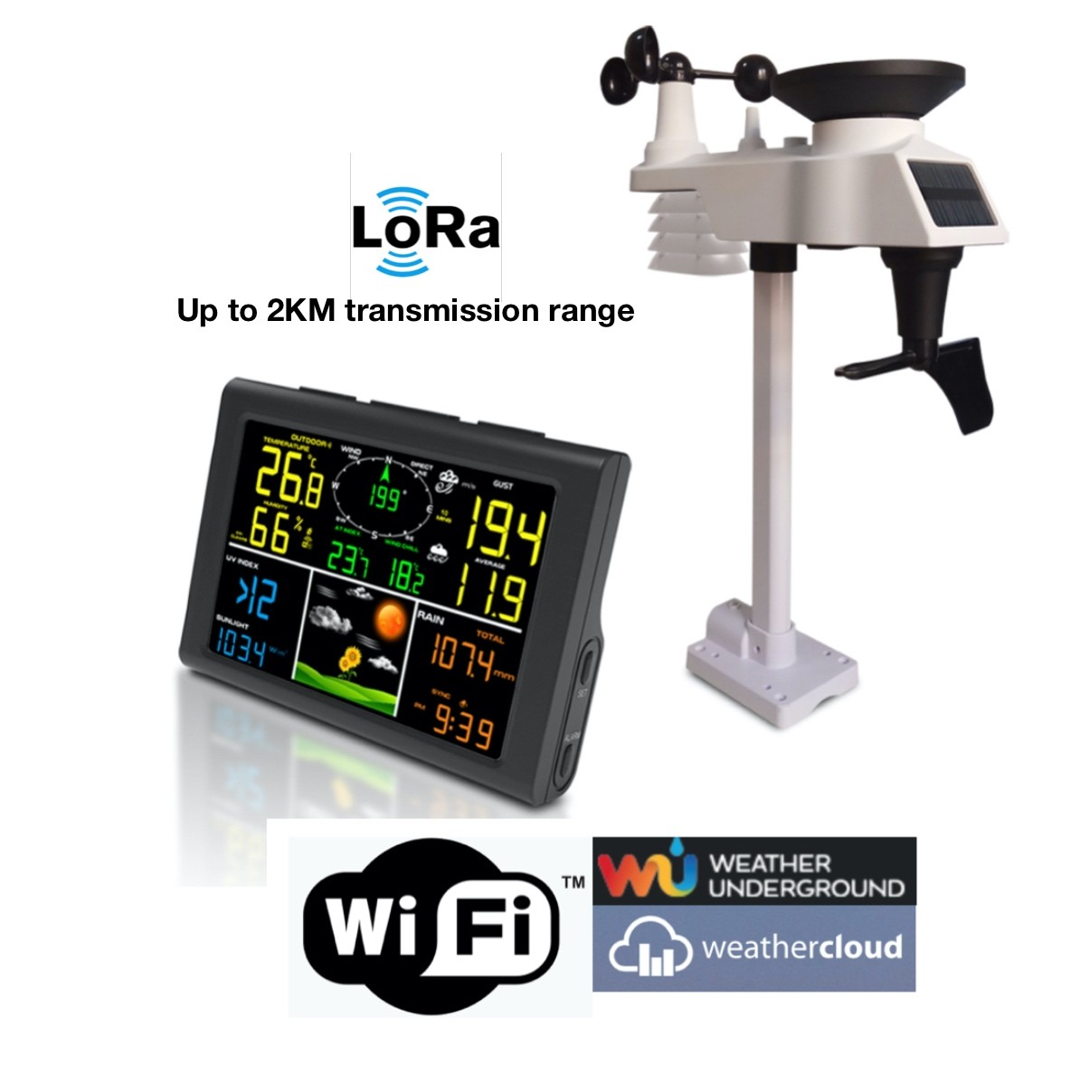 FT-0832L0-Wifi Lora and Wifi Professional Weather Station