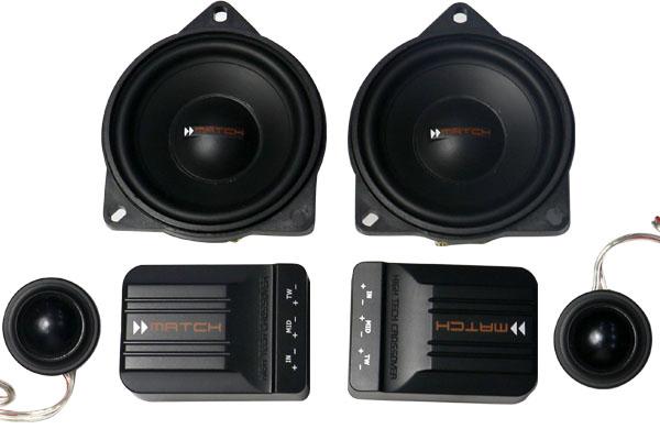 完美演绎惊艳靓音:德国MATCH MS 42C-BMW.2宝马专用二分频套装喇叭