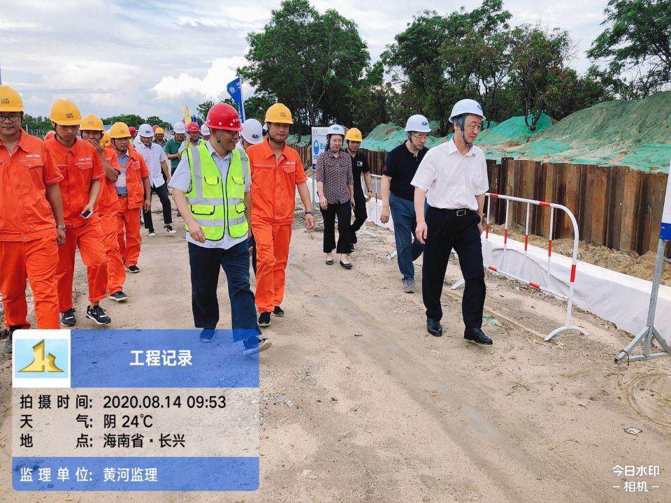 海南水务厅领导巡查南繁基地水利设施(乐东、三亚片)项目