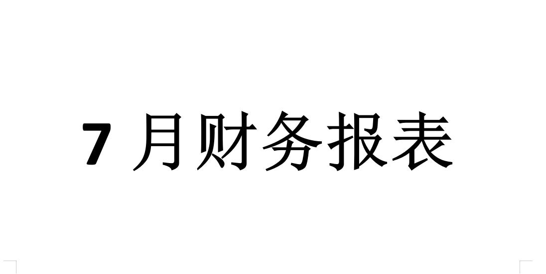 深圳社联社工服务中心7月份会计报表