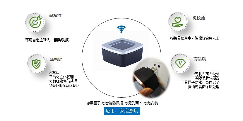 泰燃智能家用燃气报警器特点及安装方式